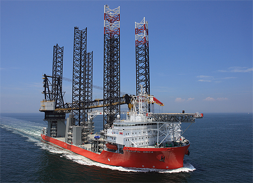 Innovative Six Legged Ship Helps Construct Offshore Wind Farms