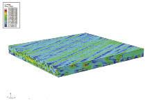 Von Mises stress contour of a long continuous fiber composite