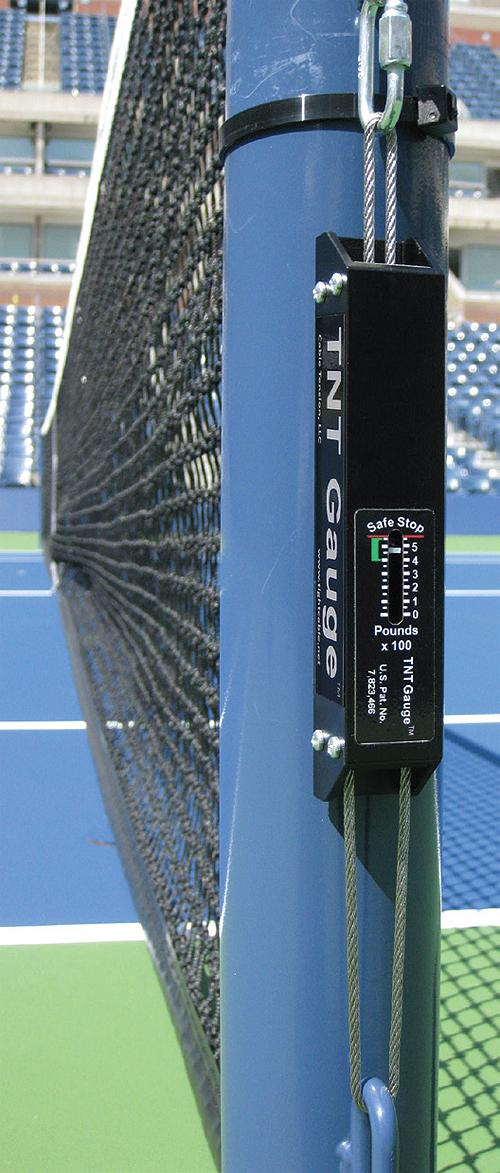 Compression Spring Helps Standardize Tennis Net Tension