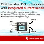 Drivers for BDC motors incorporate on-chip current sensing