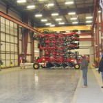 Moving-floor assembly line streamlines production of farm equipment