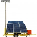 1.5KW Solar Powered Light Tower Equipped with Four 120 Watt LED Light Fixtures
