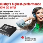 Audio op amp puts out 150 mW