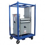 75 KVA step-down power distribution cart for heavy duty applications