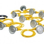 New 125 watt temporary construction LED string lights create less heat and use less power