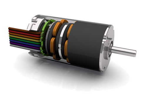 brushless dc motor with axial flux design