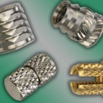 Threaded metal inserts for permanent installation in plastic materials offer quick access to assemblies