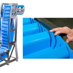New staggered sidewall belt increases sanitation and pocket capacity