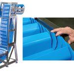 Conveyor increases sanitation and pocket capacity