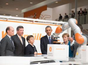 Weidmuller_President Obama and Chancellor Merkel_HannoverMesse2016