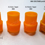How is resolution defined in 3D printing?