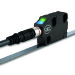 Magnetic sensor includes LED status lights for machine monitoring
