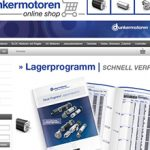 Go-live for the online shop of Dunkermotoren