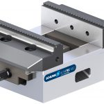 SCHUNK clamping vise with jaw support allows for I.D. and O.D. clamping
