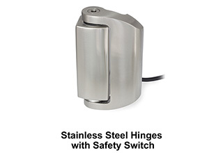Hinges With Safety Switch In Stainless Steel Offered By JW Winco