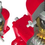 What are the six basic parts of a worm-gear jack for vertical motion applications?