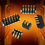 Miniature board-to-board battery connectors