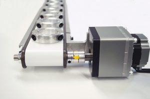 Ruland jaw coupling on conveyor