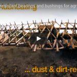 Heavy duty, dirt and dust resistant bearings