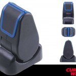 Single-axis paddle joystick incorporates latching and overpress functions
