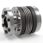 SP3 metal bellows coupling with external clamping ring