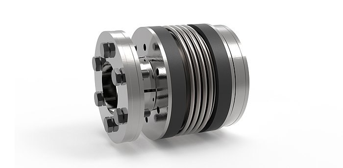 Sp metal bellows coupling with external clamping ring