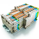 New from Weidmuller – Klippon Connect A-Series modular terminal blocks featuring push in technology