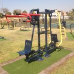 Hard-wearing polymer bushings for outdoor gym equipment